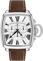 Glam Rock Men's Vintage Leather Band Steel Case Swiss Quartz Watch Gr28101f