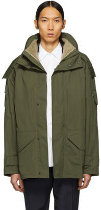 Yves Salomon Green Three-in-One Army Cotton Jacket