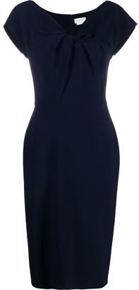 Alexander McQueen Twist-Front Dress