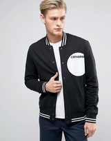 Converse Bomber Jacket With Dot Logo In Black 10003597-a01