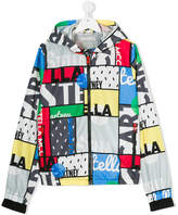 Stella McCartney multi print rain jacket