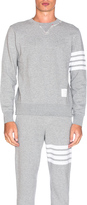 Thom Browne Distressed 4 Bar Stripe Sweatshirt