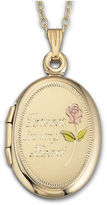 JCPenney FINE JEWELRY Forever In My Heart Locket 18K over Sterling Silver