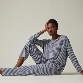 Love & Lore Love And Lore Azalea Pajama Set Blue Stripe Medium