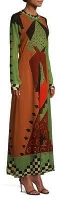 Etro Silk Geo Print Dress