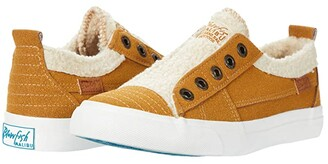 Blowfish Playdoe (Camel Faux Suede/Faux Sherpa 2) Women's Shoes