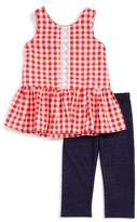 Toddler Girl's Pippa & Julie Peplum Top & Leggings