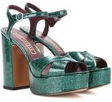 Marc Jacobs Debbie glitter patent leather platform sandals