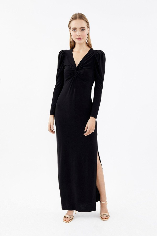 Coast Long Sleeve Twist Front Maxi Dress