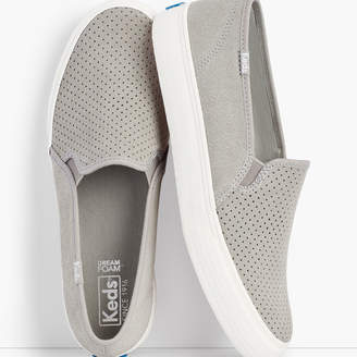 Talbots Keds(R) Double Decker Perf Suede Slip-On Sneakers