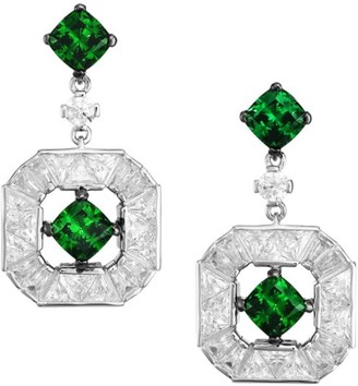 Adriana Orsini Azlyn Rhodium-Plated Sterling Silver & Cubic Zirconia Drop Earrings