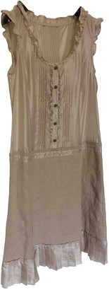 BEIGE Non Signe / Unsigned Linen Dress for Women