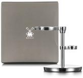 Muhle Chrome Safety Razor & Shaving Brush Stand