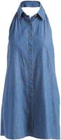 Mimichica Denim Button-Up Halter Dress