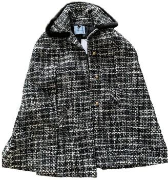 Blumarine Black Tweed Coat for Women