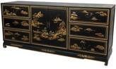 Oriental Furniture 6 Drawer Combo Dresser