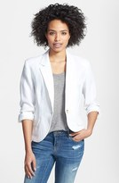 Three Quarter Sleeve Linen Blazer (Regular & Petite)