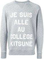MAISON KITSUNÉ front print sweatshirt