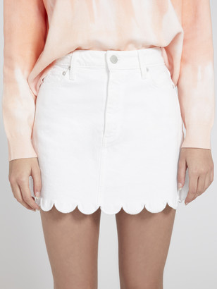 Alice + Olivia Good High Rise Scallop Mini Skirt