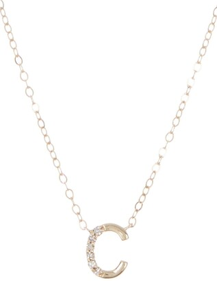 Ron Hami 14K Yellow Gold Letter Pendant Necklace