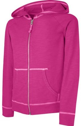 Hanes Girls Slub Jersey Full-Zip Hoodie, Sizes 4-16