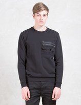 Diesel Black Gold Strendy Unbrushed Cotton Fleece Sweatshirt