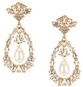 Gemma Layne Faux-Pearl Pearl Opera Loop Chandelier Statement Earrings