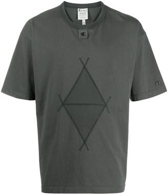 Champion diamond-print short-sleeved T-shirt