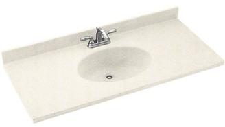 "Swan Chesapeake Solid Surface 55"" Single Bathroom Vanity Top Top Finish: Baby's Breath"