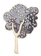 CONTEMPORARY Enamel Tree Brooch