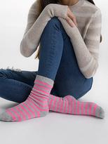 White + Warren Womens Cashmere Striped Socks