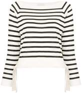 Moncler striped fitted top
