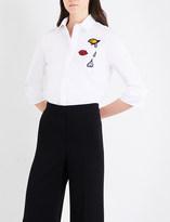 Mary Katrantzou Rita cotton-poplin shirt