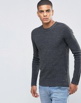 Selected Ribbed Crew Neck Sweater