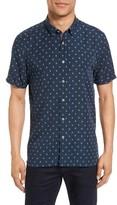 Ted Baker Men's Drakey Extra Slim Fit Diamond Print Sport Shirt