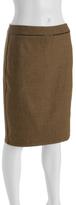 tan wool tweed 'Dita' pencil skirt