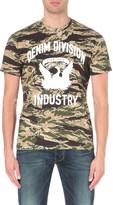 Diesel T-joe-hj camouflage-print cotton t-shirt