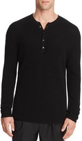 Ovadia & Sons Zack Merino Waffle Henley Sweater