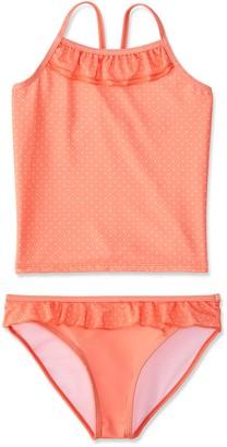 RED WAGON Girl's Dotty Swim Top and Brief Tankini