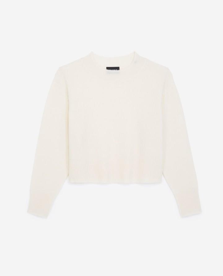The Kooples Plain ecru cashmere sweater