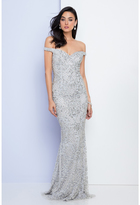 Terani Couture Bejeweled Illusion Mermaid Gown 1721GL4445