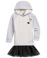 Sean John Embroidered Emoji Hooded Tutu Dress, Big Girls (7-16)