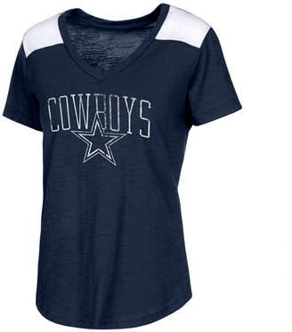 Authentic Nfl Apparel Women Dallas Cowboys Corinna V-Neck T-Shirt