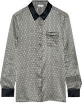 Eres Ambroise Atrium Printed Silk-satin Pajama Top - Anthracite