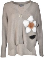 Lorena Antoniazzi Pom-Pom Embroidered Cardigan