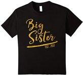Kids Big Sister Est 2017 Shirt | Girls