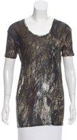 Helmut Lang Semi-Sheer Abstract T-Shirt