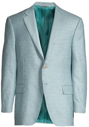 Canali Silk & Cashmere Textured Jacket
