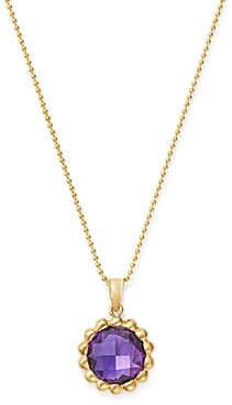 Bloomingdale's Amethyst Beaded Pendant Necklace 14K Yellow Gold, 18 - 100% Exclusive