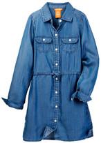 Joe Fresh Chambray Shirt Dress (Big Girls)